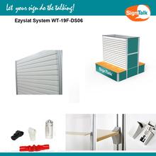 Durable aluminum slatwall for Display