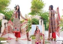 Designer Stitched 3-piece Printed Lawn dress with Chiffon Dupatta and chiffon Sleeves