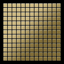 Mosaic massiv metal Titanium Gold brushed gold 1,6mm thick Article Mosaic-Ti-GB Collection Mosaic by ALLOY