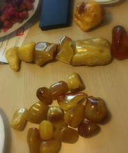 Natural Polished Amber Stone