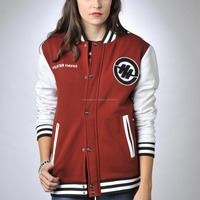Custom wholesale girls baseball jacket varsity jackets, Custom ladies varsity jacket