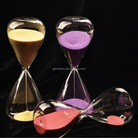 Beautiful design 30 Min Crystal Transparent Glass Sandglass Time Counter Count Down Timer Hourglass Clock Decor Unique Gift