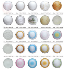 interior ceiling lamp round iron glass ceiling light with E27 base 230/300/400/500mm