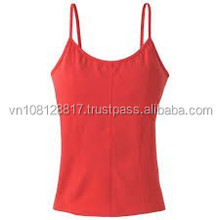 VietNam Red Top woman compopstion 95% cotton 5% spandex