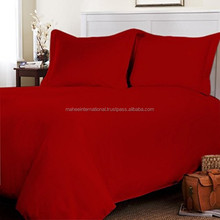 BLOOD RED DYED BED SHEET SETS