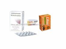 Oralight Hyper pigmentation Tablets Skin Whitening Lightening Pills + Premium Likas Papaya Soap Bar + Sure White Bleaching Cream