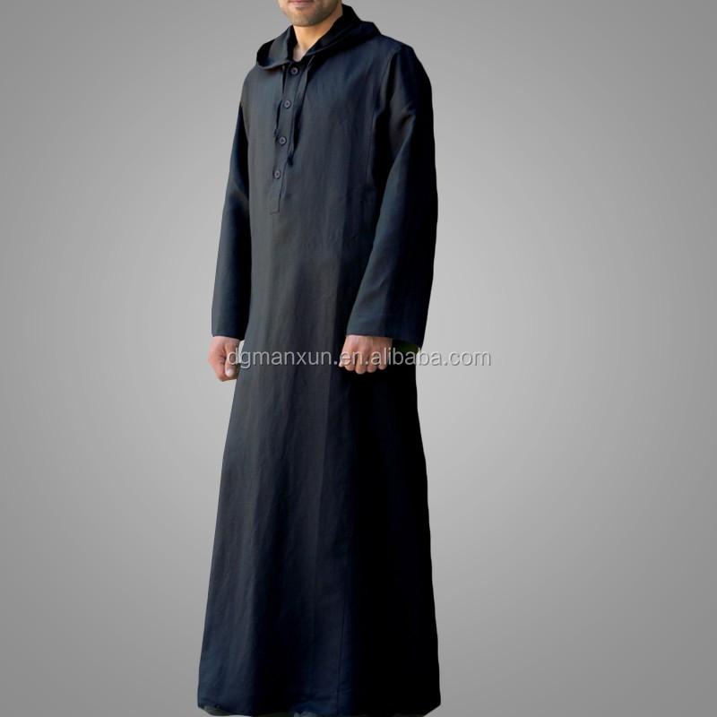 High Quality Daffah Thobe Arabian Robe Saudi Style Muslim Clothing For Men Arabic Thobe Jubbah2.jpg