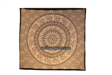Brown Black Elephant Mandla VintageTapestry Wall Mandla Art Tie Dye Beach Hanging Tapestries Hippie Manufacturer In India Jaipur