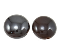 17x9.5mm brown Flat Round Clearance Acrylic Beads