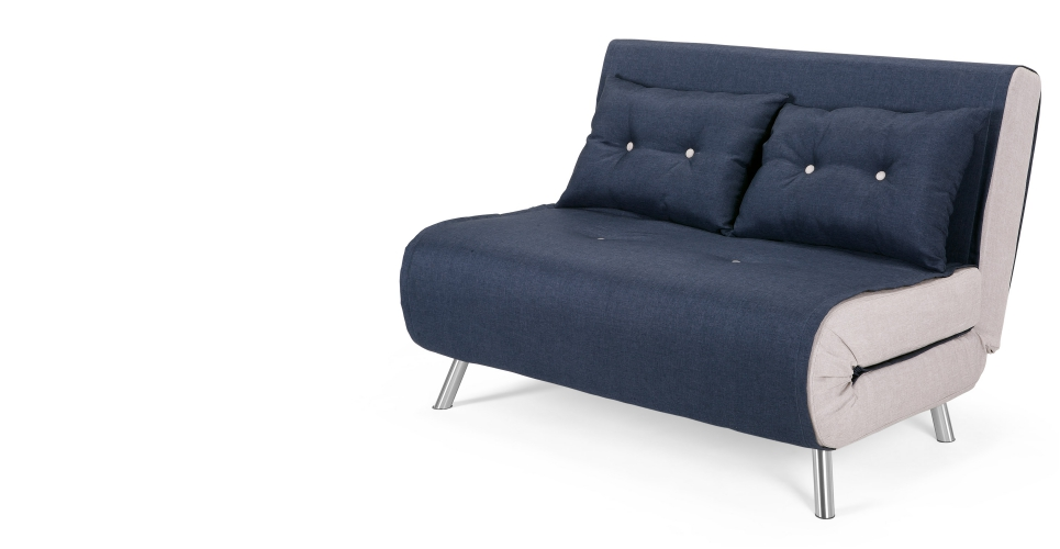 Haru small sofa bed quartz blue 2 seater sofas buy 2 for Cuanto sale un sofa cama