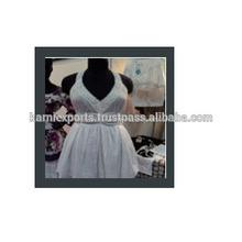 Estrenar ropa de moda para las damas de algodón, gasa, tie & dye vestidos / damas patrón floral, digital, pantalla impreso