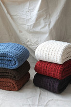 Chunky woven throw/blanket/ polyester
