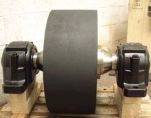 75 tonnes wheel and axle assemblies used in a rotating drum