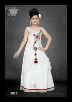 Party wear white frock/gown designs for girls