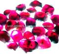 Precio de venta al por mayor de color púrpura de granate en bruto en bruto gemas semi preciosas& fabricación de suministro