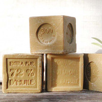 Additive free traditional olive oil soap as hair shampoo made in French