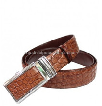 Crocodile leather belt for men SMCRB-011