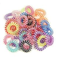 mixed colors Plastic Phone Wire Hair Elastic