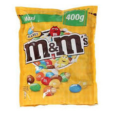 M&Ms peanuts brown 400g chocolate