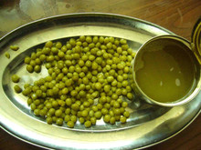 Canned green peas 4250ml tin