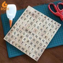 100 Scrabble Tiles NEW Scrabble Letters Wood Pieces Complete Set Great for Crafts Pendant