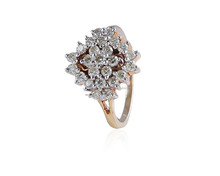 0.86 CTS NATURAL DIAMONDS G COLOR BRIDAL RING IN SOLID BIS HALLMARK 18 KARATS YELLOW GOLD FACTORY PRICES !!!