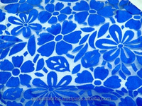 Blue Embroidery Fancy Lace/ Blue Brasso Fabric/ Blue color Burn out Embroidery Lace Fabric