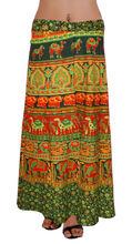abrigo de algodón indio alrededor de las faldas