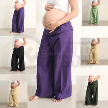 Best Long Wide legged Cheap Pregnancy Clothes Hippie Bohemian Wholesale Maternity Pants