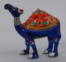 Metal Painted Camel Statue