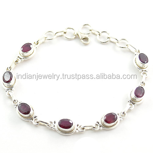 925 sterling silver jewelry wholesale bracelet indian ruby