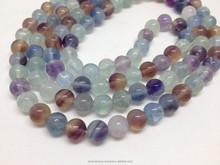 Natural Multi Fluorite Eye Loose Beads Semi Precious Stone Beads Multi Fluorite Beads