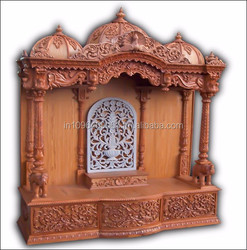 wooden temple ,altar,mandir,hindu god statue,indian temple for home