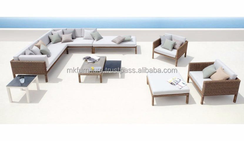 2015 best selling synthetic rattan sofa set- poly rattan furniture