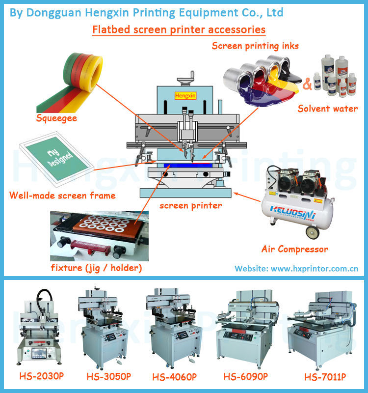 Vacuum screen printing machine