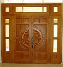 interior wooden door made from round edge smooth 4 side white / brown Vietnam hardwood.