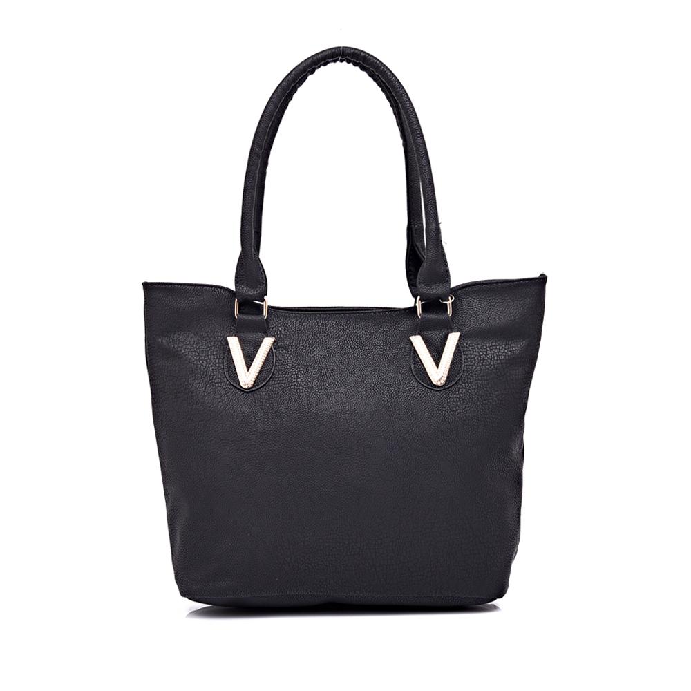 wholesale 2015 fashion pu leather handbag shoulder bag for