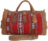Leather Genuine Travel bag KIlim Weekender vintage Luggage overnight satchel sportbag handmade quality satchel flight bag retro