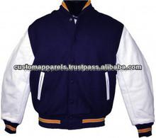 varsity jackets genuine leather sleeves