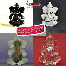 Handmade Lampworking Crystal Glass Ganesha in Various Colors - Hot Wedding Favor Gift