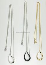 fashion necklace,simple design, for women,long necklace, drop shape necklace