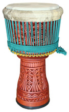 Elite Pro Master Series Djembe, Cili carving, wood percussion music instrument, handycraft