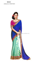 Traditional Indian Georgette Saree Georgette Designer wedding saree Bollywood Designer Saree Ethnic Beautiful Georgette