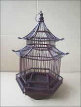 Pet Cage, Bamboo Bird Cage in Pagodar Model, Durable Bamboo Bird Cages