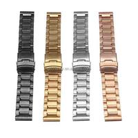 New Arrvial!!! 20mm Stainless Steel Watch Band Strap Double Lock Flip Bracelet Straight Hot Sale