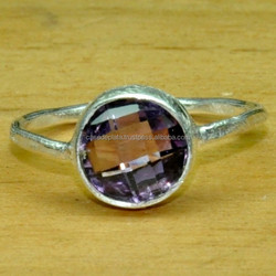 Amethyst, 925 Sterling Silver Ring, Beautiful Design Fancy Ring Natural Ring ER4004