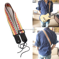 2015 Best Price High Quality Top Selling Adjustable Classic Style Guitar Soft Strap Cotton For Belt Electric Bass