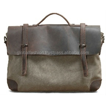 2015 wholesale mens canvas leather messenger bag/alibaba messenger bag leather canvas messenger bags