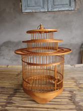 Bamboo pet cage/ bird cage/ bird house with honey color