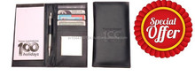 Special Offer On Genuine Leather Checkbook Cover / Wholesale bulk real leather checkbook case / blck checkbook cover